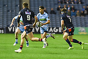 Adam Hastings on the ball during the 1872 Challenge Cup, Guinness Pro 14 2018_19 match between Edinburgh Rugby and Glasgow Warriors at BT Murrayfield Stadium, Edinburgh, Scotland on 22 December 2018.