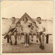 Pieter Van der Wall, Fran Leembruggen, Tessa Joachim, Maarten & Anthony Van der Wall at our grandparents' place in Chilaw - 1954.