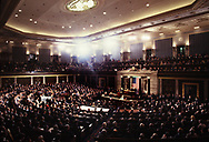 President Jimmy Carter delivers  the state of the union address in January 1978<br /> Photo by Dennis Brack