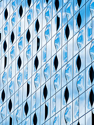 Exterior facade detail of new Elbphilharmonie concert hall in Hamburg, Germany