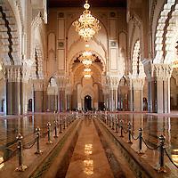 Hassan II Mosque, Interior - Casablanca, Morocco
