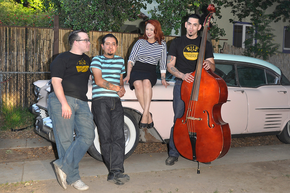 The Rhythm Shakers  at Wild Records studio in Altadena, CA 5/2/2010.
