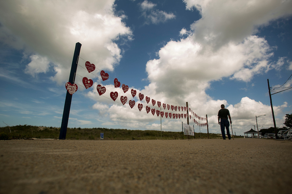 "CAPE CHARLES, VA - JUNE 24: A ""Walk of Hearts"" art display is pictured on Tuesday, June 24th, 2014 in Cape Charles, Va. (Photo by Jay Westcott/For The Washington Post)"