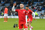 Conor Chaplin (11) of Barnsley warming up ahead of the The FA Cup match between Portsmouth and Barnsley at Fratton Park, Portsmouth, England on 25 January 2020.