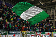 Northern Ireland fans ahead of the UEFA European 2020 Qualifier match between Northern Ireland and Netherlands at National Football Stadium, Windsor Park, Northern Ireland on 16 November 2019.