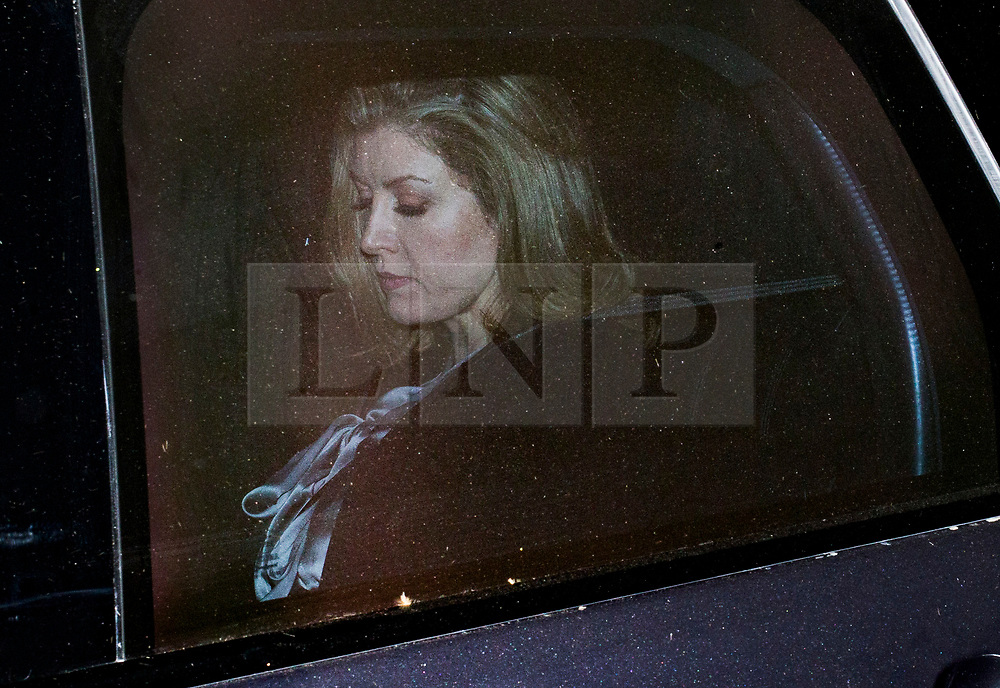 © Licensed to London News Pictures. 01/05/2019. London, UK. The new Secretary of State for Defence Penny Mordaunt leaves the Ministry of Defence tonight. She was appointed after Gavin Williamson was sacked for leaking details of a National Security Council meeting discussing Huawei's limited access to help build the UK's new 5G network. Photo credit: George Cracknell/LNP