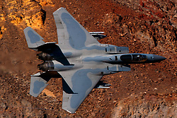United States Air Force McDonnell-Douglas F-15C Eagle (81-022) from the 144th Fighter Wing, California Air National Guard Jedi Transition Star Wars Canyon, Death Valley National Park, California, United States of America