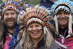 December 16, 2017 - Dublin, Ireland - Exeter Chiefs' supporters ahead of the European Rugby Champions Cup rugby match, Leinster vs Exeter Chiefs at the Aviva Stadium, Dublin. .On Saturday, 16 December 2017, in Dublin, Ireland. (Credit Image: © Artur Widak/NurPhoto via ZUMA Press)