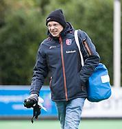 BILTHOVEN - Manager Peter Visschedijk (SCHC)   tijdens de competitiewedstrijd heren,  SCHC-Almere (3-2) . COPYRIGHT KOEN SUYK