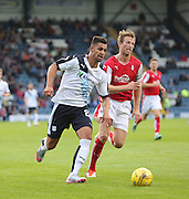 Dundee's Luka Tankulic goes past Rotherham United's Danny Collins - Dundee v Rotherham United - pre-season friendly at Dens Park <br /> <br />  - &copy; David Young - www.davidyoungphoto.co.uk - email: davidyoungphoto@gmail.com