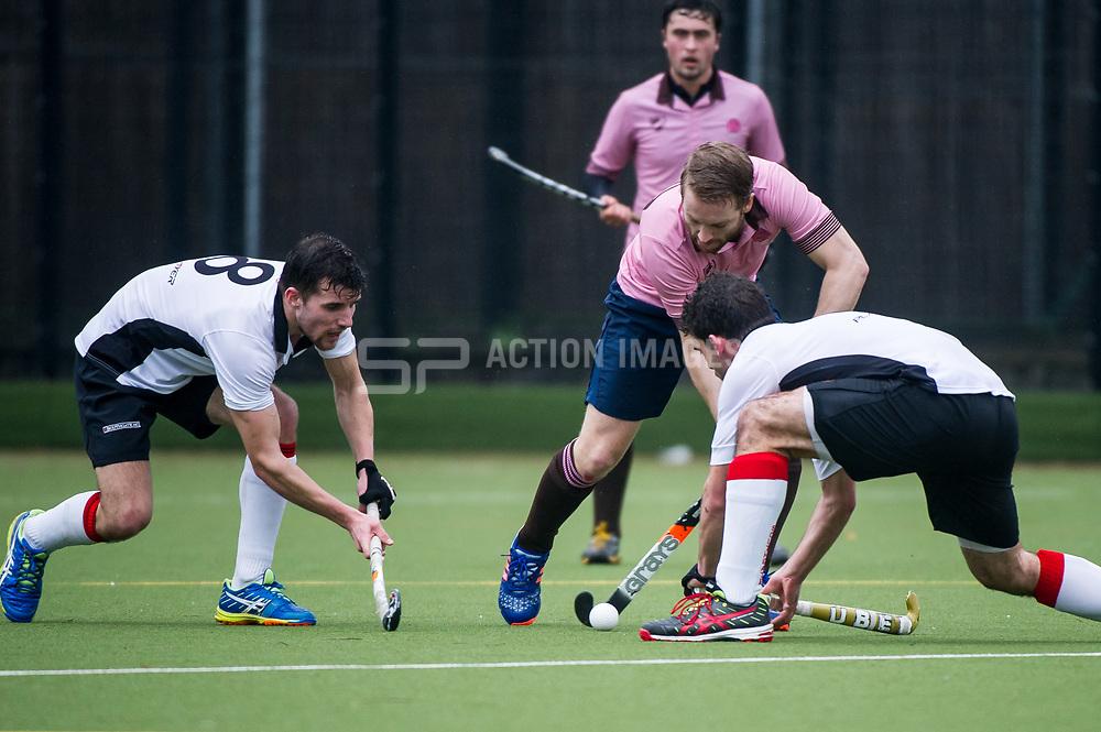 Teddington v Southgate  - Men's Hockey league - East Conference, Teddington School, London, UK on 12 March 2017. Photo: Simon Parker