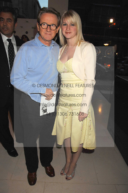 JOHN SWANNELL and his daughter SOPHIA SWANNELL at the Off The Wall photographic exhibition and auction at The Avenue, St.James's Street, London on 20th September 2007.<br />