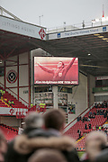 In memory of Alan Hodgkinson the Sky Bet League 1 match between Sheffield Utd and Coventry City at Bramall Lane, Sheffield, England on 13 December 2015. Photo by Mark P Doherty.