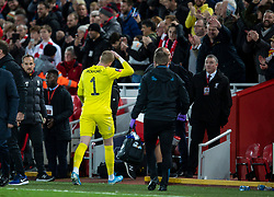 LIVERPOOL, ENGLAND - Sunday, January 5, 2020: Everton's goalkeeper Jordan Pickford walks off dejected after the FA Cup 3rd Round match between Liverpool FC and Everton FC, the 235th Merseyside Derby, at Anfield. Liverpool won 1-0. (Pic by David Rawcliffe/Propaganda)