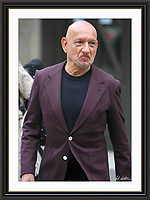 Ben Kingsley Sporting Royal Crest on Jacket Pictured Leaving BBC London 2 may 2016 Museum-quality Archival signed Framed Print (Limited Edition of 25)