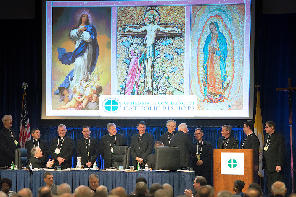 BALTIMORE 14 NOVEMBER: Images from the opening of the USCCB Conference in Baltimore, Maryland on November 14, 2016