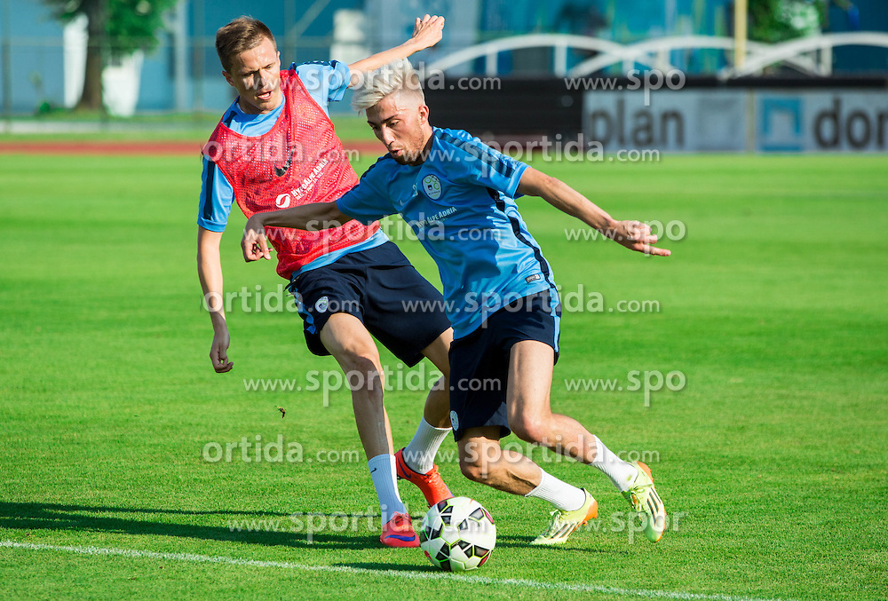 Josip Ilicic vs Kevin Kampl during practice session of Slovenian National Football Team before Euro 2016 Qualifications match against England, on June 10, 2015 in Kranj, Slovenia. Photo by Vid Ponikvar / Sportida
