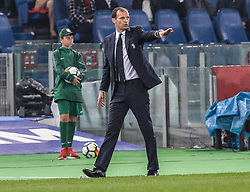 May 9, 2018 - Rome, Italy - Massimiliano Allegri during the Tim Cup Final football match F.C. Juventus vs A.C. Milan at the Olympic Stadium in Rome, on May 09, 2018  (Credit Image: © Silvia Lore/NurPhoto via ZUMA Press)