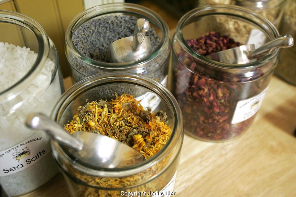 Make your own tea baths at Honey Grove Botanicals, Gahanna.(Jodi Miller/Alive)