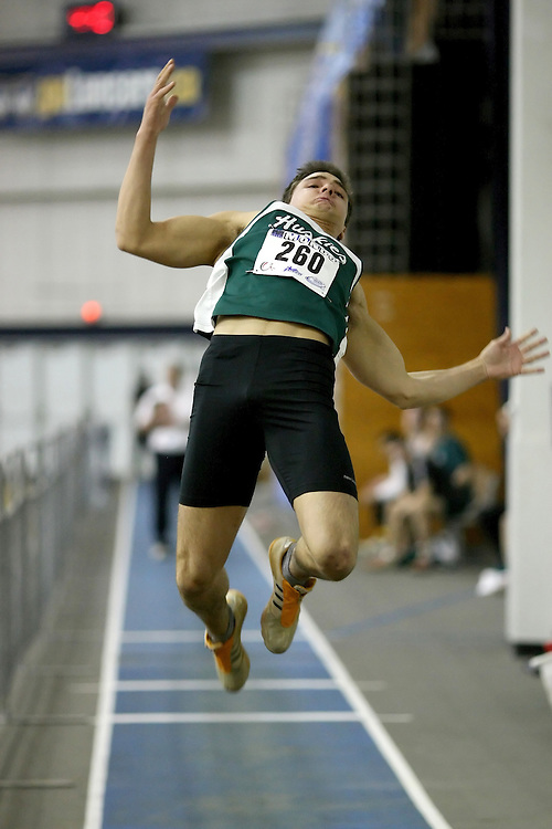 Windsor, Ontario ---12/03/09--- Chris Crossley of  the University of Saskatchewan competes in the Men's Pentathlon Long Jump at the CIS track and field championships in Windsor, Ontario, March 12, 2009..Sean Burges Mundo Sport Images