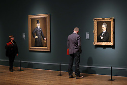 Visitors at a preview of the new Edouard Manet portraiture exhibition at the Royal Academy of Arts in London, Tuesday, 22nd January 2013.Photo by: Stephen Lock / i-Images