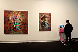 Ron English,Mandala Grin , Cowoy Kool  2009 + video from Desiderio
