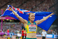 Athletics - 2017 IAAF London World Athletics Championships - Day Nine, Evening Session<br /> <br /> Womens 100m Hurdle Final<br /> <br /> Sally Pearson (Australia) celebrates her victory at the London Stadium<br /> <br /> COLORSPORT/DANIEL BEARHAM
