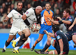 South African international Gurthro Steenkamp attacks in his first game for Toulouse. Stade Toulousain v Stade Francais, 9eme Journee, Top 14, Rugby, Stade Ernest Wallon, Toulouse, France, 29th October 2011.
