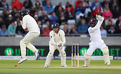West Indies Jermaine Blackwood during day three of the First Investec Test match at Edgbaston, Birmingham.