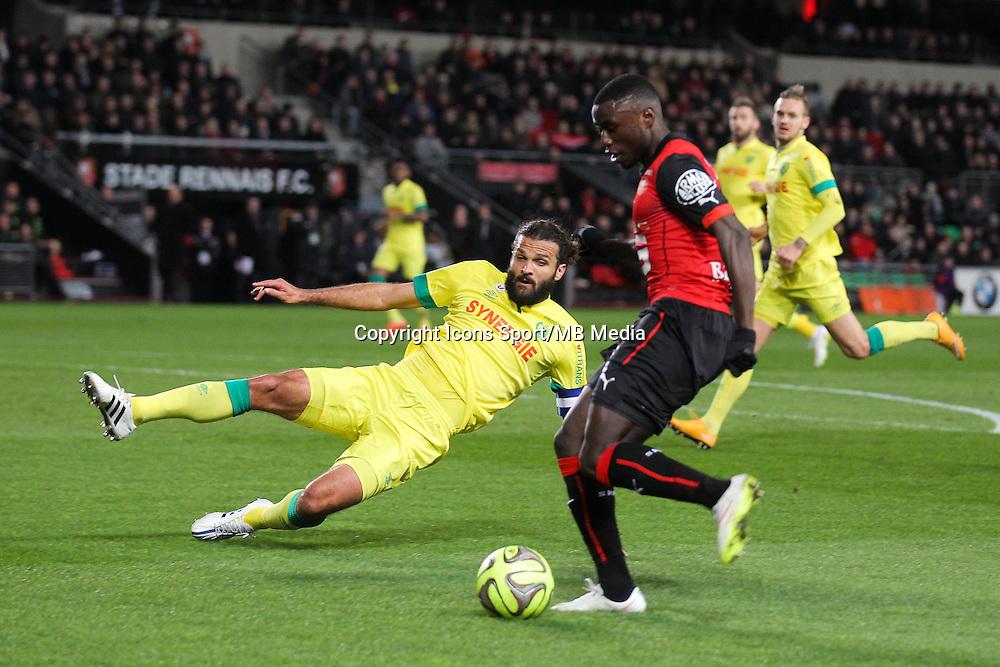 Paul Georges NTEP / Ozwaldo VIZCARRONDO - 21.03.2015 - Rennes / Nantes - 30eme journee de Ligue 1<br />Photo : Vincent Michel / Icon Sport