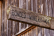 """Bonded Winery"" sign at Hillcrest Vineyards winery, Umpqua Valley, Oregon..#D0309318"