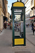 Eastern Europe, Hungary, Budapest, a retro phonebooth