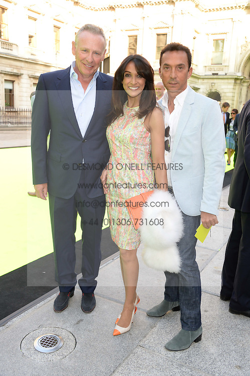 Left to right, CARL MICHAELSON, JACKIE ST.CLAIR and BRUNO TONIOLI at the preview party for The Royal Academy Of Arts Summer Exhibition 2013 at Royal Academy of Arts, London on 5th June 2013.