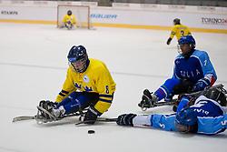 ITA v SWE during the 2013 World Para Ice Hockey Qualifiers for Sochi, Torino, Italy
