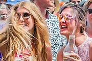 Tom Odell plays the Pyramid Stage in front of sundrenched and excited fans - The 2019 Glastonbury Festival, Worthy Farm, Glastonbury.