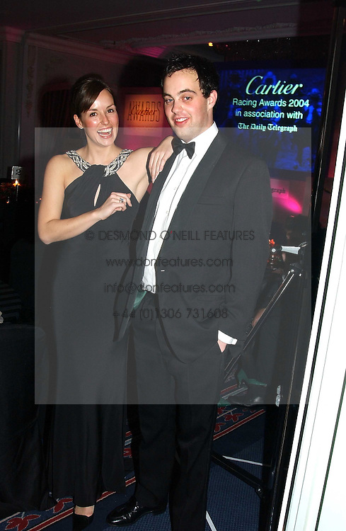 LORD BUCKHURST and LADY ROSE INNES-KER daughter of the 10th Duke of Roxburghe at the 2004 Cartier Racing Awards in association with the Daily Telegraph, held at the Four Seasons Hotel, London on 17th November 2004.<br /><br />NON EXCLUSIVE - WORLD RIGHTS