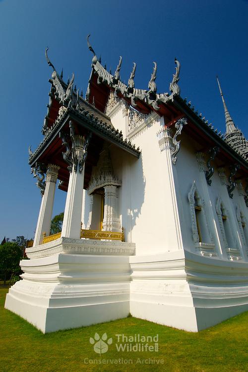 A Thai temple at Muang Borang in Samut Prakarn, Thailand.