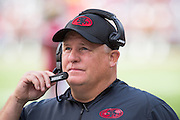 San Francisco 49ers head coach Chip Kelly works the sideline during a game against the Dallas Cowboys at Levis Stadium in Santa Clara, Calif., on October 2, 2016. (Stan Olszewski/Special to S.F. Examiner)