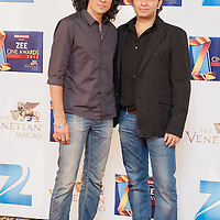 MACAU, CHINA - JANUARY 21:  Indian film director Imtiaz Ali (L) and Mohit Chauhan attend red carpet during the Zee Cine Awards 2012 ceremony at The Venetian Macao-Resort-Hotel on January 21, 2012 in Macau.  Photo by Victor Fraile / studioEAST