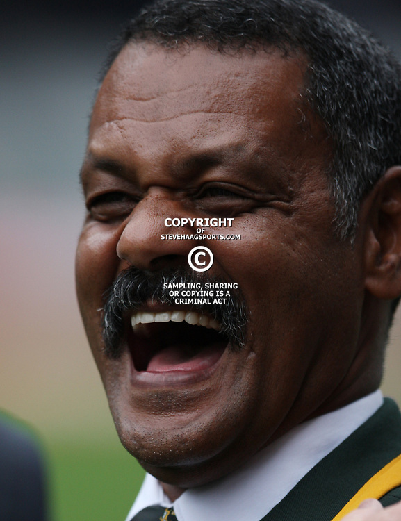 DURBAN, SOUTH AFRICA - AUGUST 13, Peter de Villiers Springbok Head Coach during the Castle Lager Tri Nations match between South Africa and Australia at Mr Price Kings Park Stadium on August 13, 2011 in Durban, South Africa<br /> Photo by Steve Haag / Gallo Images