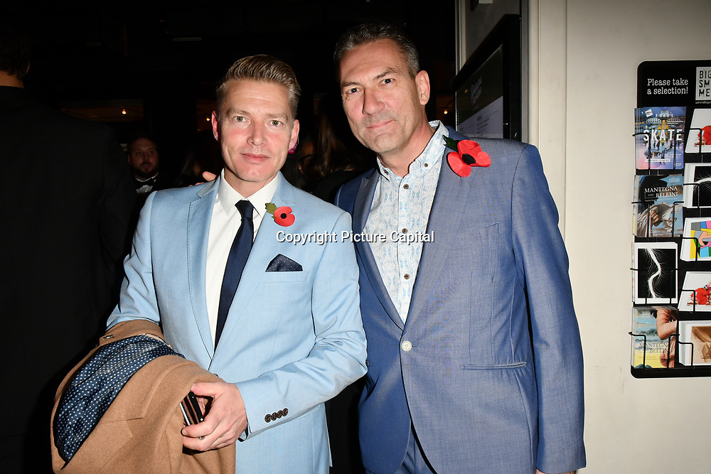Richard Dee Roberts and Jon Woodrow arrivers at Eleven Film Premiere at Picture House Central, Piccadilly Circus on 10 November 2018, London, Uk.