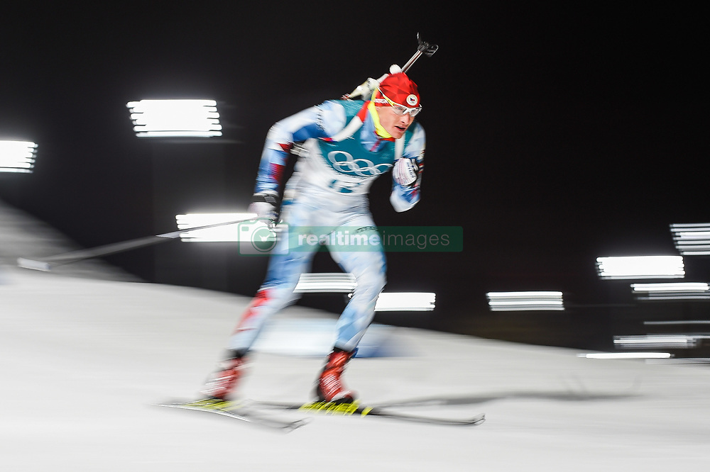 February 11, 2018 - Pyeongchang, Gangwon, South Korea - Ondrej Moravec ofCzech Republic at Mens 10 kilometre sprint Biathlon at olympics at Alpensia biathlon stadium, Pyeongchang, South Korea on February 11, 2018. (Credit Image: © Ulrik Pedersen/NurPhoto via ZUMA Press)