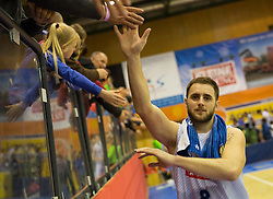 18.11.2015, Walfersamhalle, Kapfenberg, AUT, FIBA Europe Cup, ece Bulls Kapfenberg vs Le Havre, im Bild Mirza Ahmetbasic (Bulls Kapfenberg) nach dem Sieg gegen Le Havre // during the FIBA Europe Cup, between ece Bulls Kapfenberg and Le Havre at the Sportscenter Walfersam, Kapfenberg, Austria on 2015/11/18, EXPA Pictures © 2015, PhotoCredit: EXPA/ Dominik Angerer