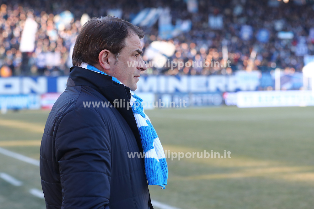 "Foto Filippo Rubin<br /> 21/01/2017 Ferrara (Italia)<br /> Sport Calcio<br /> Spal vs Benevento - Campionato di calcio Serie B ConTe.it 2016/2017 - Stadio ""Paolo Mazza""<br /> Nella foto: LEONARDO SEMPLICI<br /> <br /> Photo Filippo Rubin<br /> January 21, 2017 Ferrara (Italy)<br /> Sport Soccer<br /> Spal vs Benevento - Italian Football Championship League B ConTe.it 2016/2017 - ""Paolo Mazza"" Stadium <br /> In the pic: LEONARDO SEMPLICI"