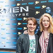 NLD/Amsterdam/20150518 - IMAX-première van X-Men: Apocalypse, Ralph Mackenbach en partner Imca