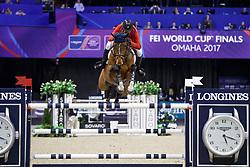 Ward McLain, USA, HH Azur<br /> Longines FEI World Cup Jumping Final III, Omaha 2017 <br /> © Hippo Foto - Dirk Caremans<br /> 02/04/2017