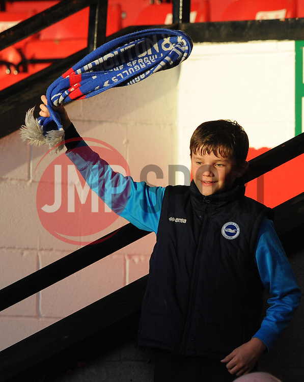 Brighton fan - Mandatory byline: Dougie Allward/JMP - 07966386802 - 25/08/2015 - FOOTBALL - Bescot Stadium -Walsall,England - Walsall v Brighton - Capital One Cup - Second Round