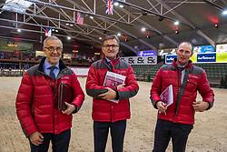 Keurinscommissie dressuur hengsten, Jef Govaerts, Tom Heylen, Jean Pierre De Waele<br /> BWP Hengsten Keuring - Lier 2020<br /> © Hippo Foto - Dirk Caremans<br /> 16/01/2020