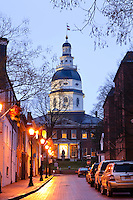 Annapolis, Maryland--The Maryland State House is the oldest state house still in legislative use.