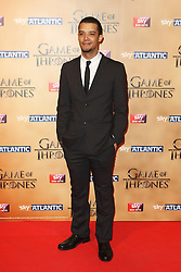 © Licensed to London News Pictures. 18/03/2015, UK. Ian Jacob Anderson (Grey Worm), Game of Thrones - Series Five World Premiere, Tower of London, London UK, 18 March 2015. Photo credit : Richard Goldschmidt/Piqtured/LNP
